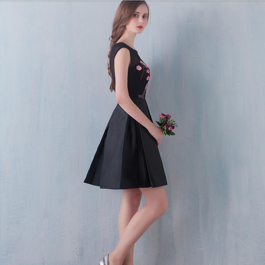 Robe De Soiree 2016 Black Short Evening Dress LUXURY Handmade ...