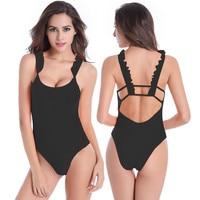 Discount Bademode Frauen Badeanzug badeanzug Sexy Monokini Paded Beachwear Biquinis HQVS017
