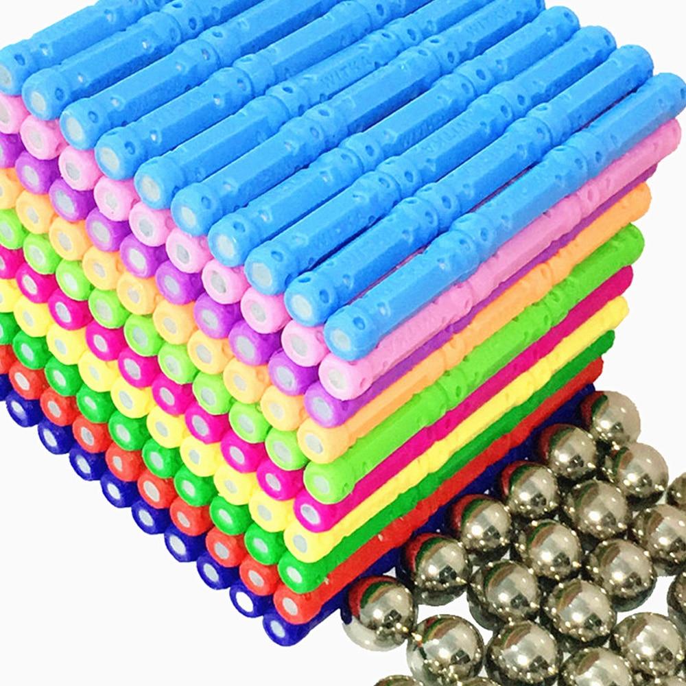 Bricolage conception magnétique blocs aimants barres boule en métal 3D Construction jouets accessoires jouets éducatifs pour enfants cadeaux