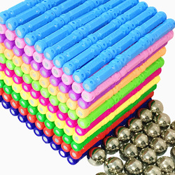 DIY Magnetic Design Blocks Magnet Bars Metal ball 3D Construction Toys Accessories Educational Toys for Children Gifts