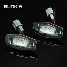 2 светодио дный шт./компл. Canbus светодиодный номер номерного знака свет лампы ОШИБОК белый 6000 К для Honda Accord Odyssey Acura TSX 01-05