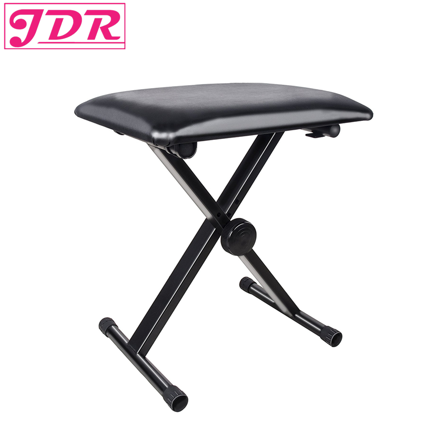JDR Piano Bench, Electronic Organ Bench, Adjustable Seat Folding Stool Chair For Piano Keyboard with Leather Pad Black bench bench be390ewiin47