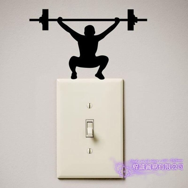 Переключатель тяжелой атлетики, тренажерный зал, фитнес, забавная наклейка для сексуальной девушки, силовые наклейки, постеры, виниловые на...