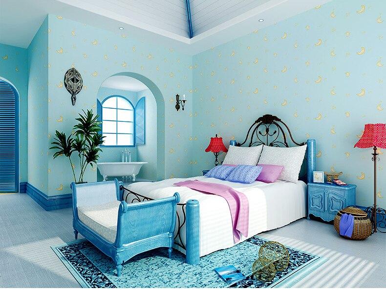 bedroom children paper moon non lovely wallcovering woven papel wallpapers mural improvement