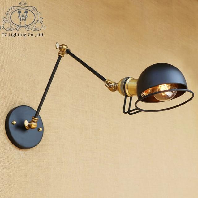 TZ Loft Industriel Jielde Mur Lampe LED E27 Vintage Long Bras