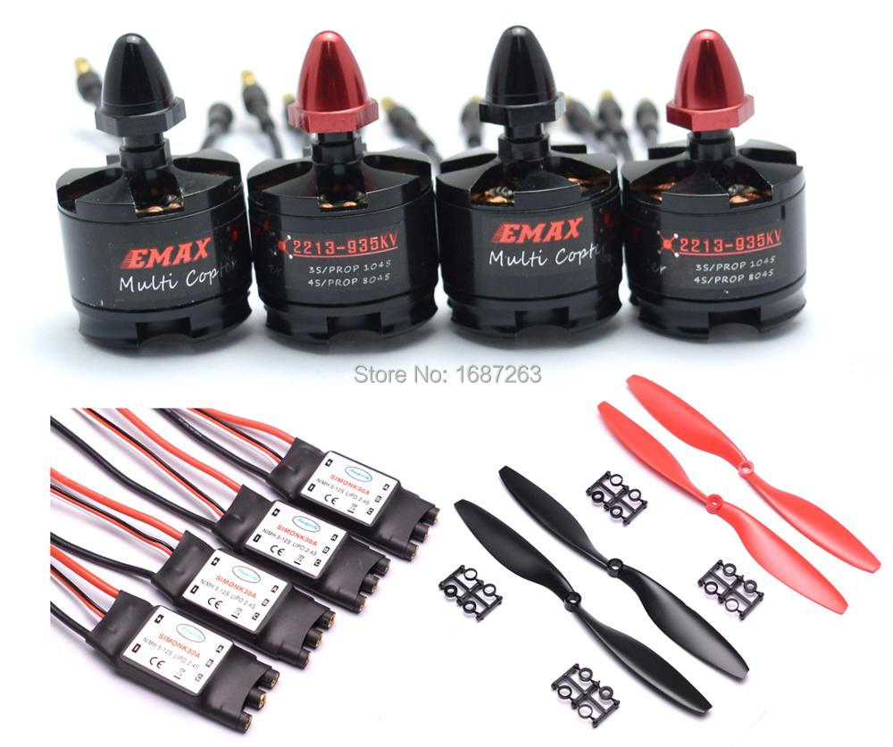 MT2213 935kv CW CCW Brushless Motor 2212 30A Simonk Esc w 1045 Prop For S500 F550