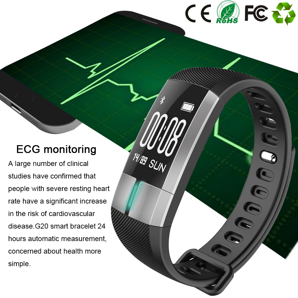 ECG Monitor Fitness Tracker  Sports Watch Heart Rate Monitor Pulse Meter Smart Bracelet Bluetooth Health Tracker Smart watch sports fitness tracker smart watch bracelet i7 bluetooth 4 0 wristband waterproof health heart rate monitor