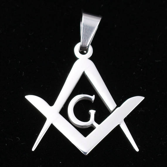10pcs wholesale 29mm high quality stainless steel freemason mason 10pcs wholesale 29mm high quality stainless steel freemason mason masonic symbol pendants necklace charms silver tone aloadofball Gallery
