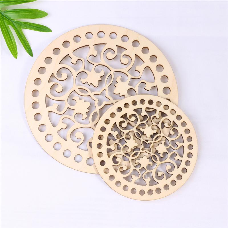 30Pcs 10mm/15mm Round Wooden Cutout Slices Discs For DIY Craft Hollow Christmas Hanging Ornaments Wedding Party Home Decoration