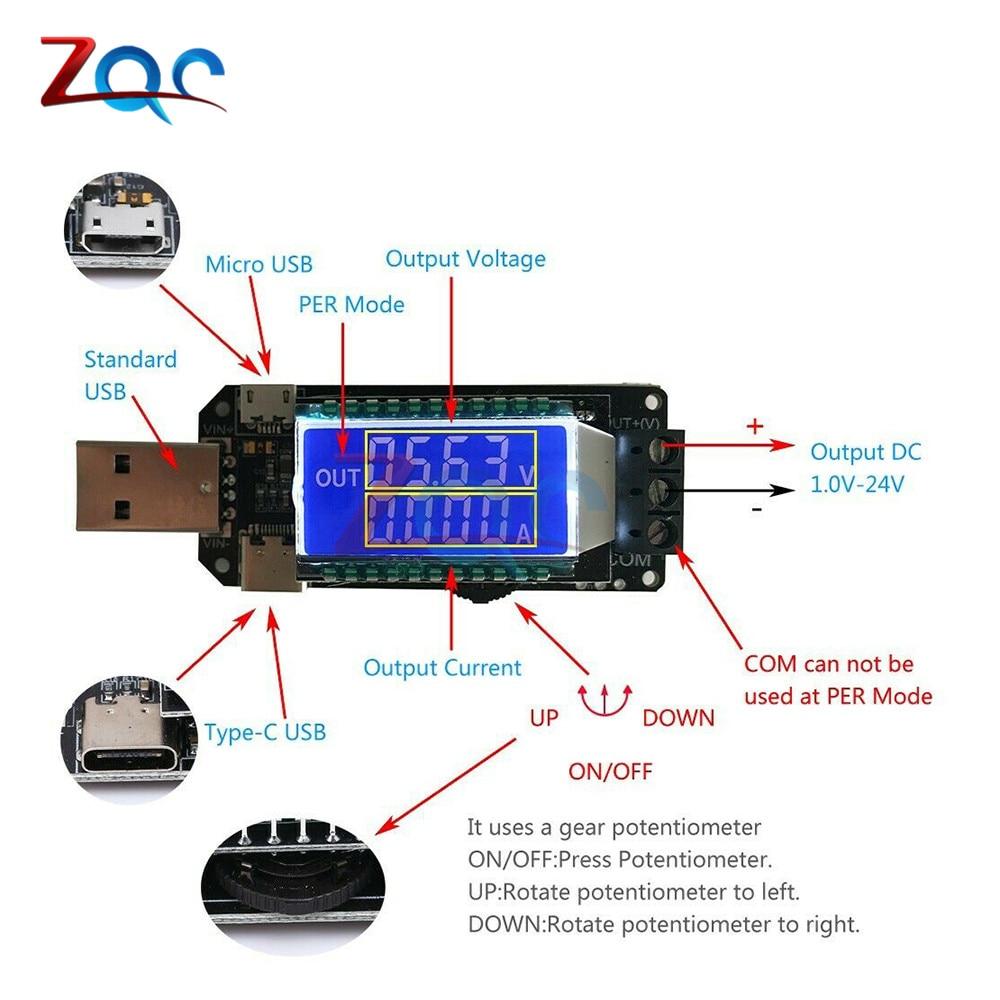 DC-DC USB Desktop Power Supply Module CNC Boost Buck 5V to 3.3V 9V 12V 24V