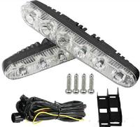 Free Shipping High Quality DC12V 5pcs Led Daytime Running Light DRL Led Day Driving Light 100