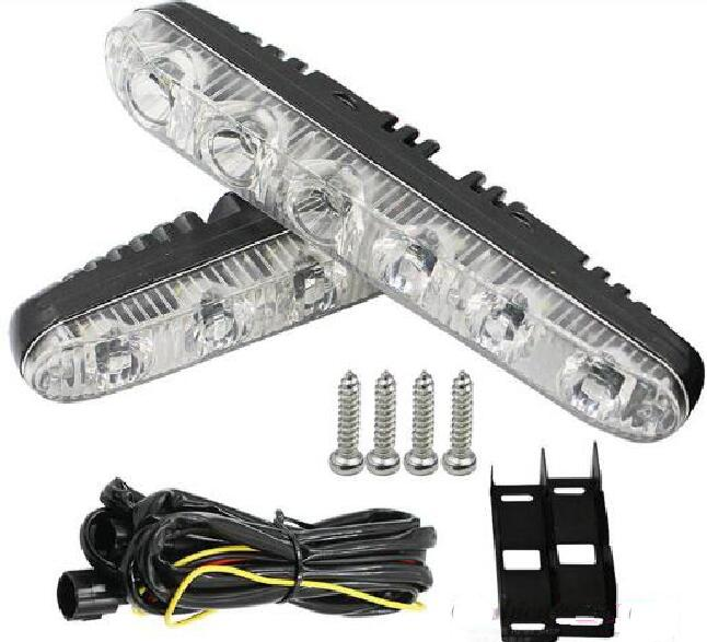 Higher star DC12V 6W led car daytime running light(DRL),day driving light,grill warning lights,2pcs/1set,waterproof