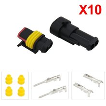 Promotion!10 Kit 2 Pin Way Waterproof Electrical Wire Connector Plug