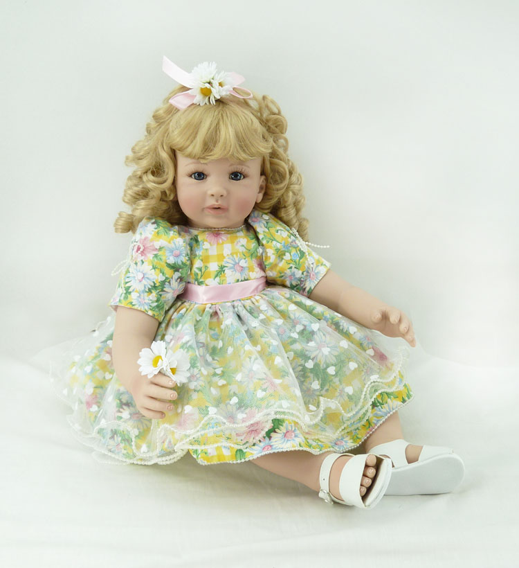 Popular vinyl silicone reborn baby dolls accompany sleeping lifelike princess toddler doll kid christmas new year boutique gifts