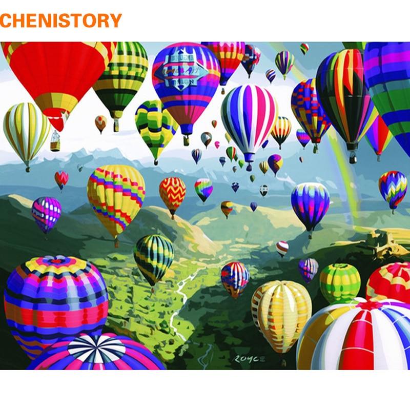 CHENISTORY Frameless Paesaggio Pittura di DIY Dai Numeri Pittura Calligrafia Moderna di Arte Della Parete della Tela di Canapa Pittura Per Complementi Arredo Casa 40X50