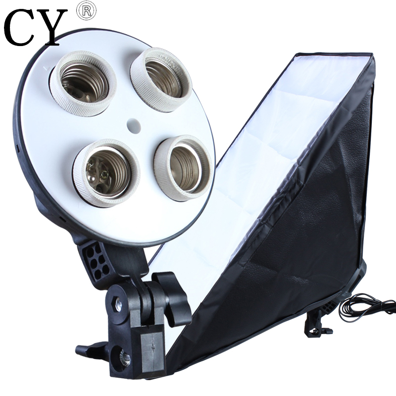 Photo Video Studio light 4 Socket Lamp with 60 90cm Softbox for font b Digital b