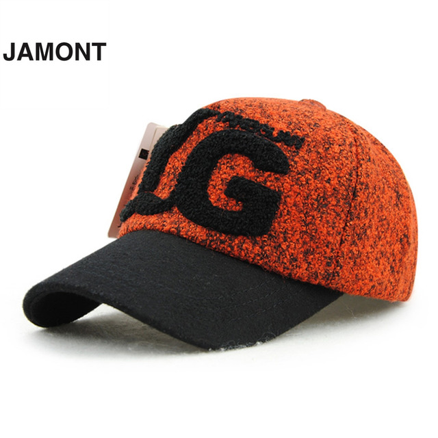 2ca94dd25f JAMONT Fashion Stylish Baseball Caps Cool Women s Plush Letters Pattern  Cotton Leisure Baseball Cap Hats 2017 New Arrival Caps