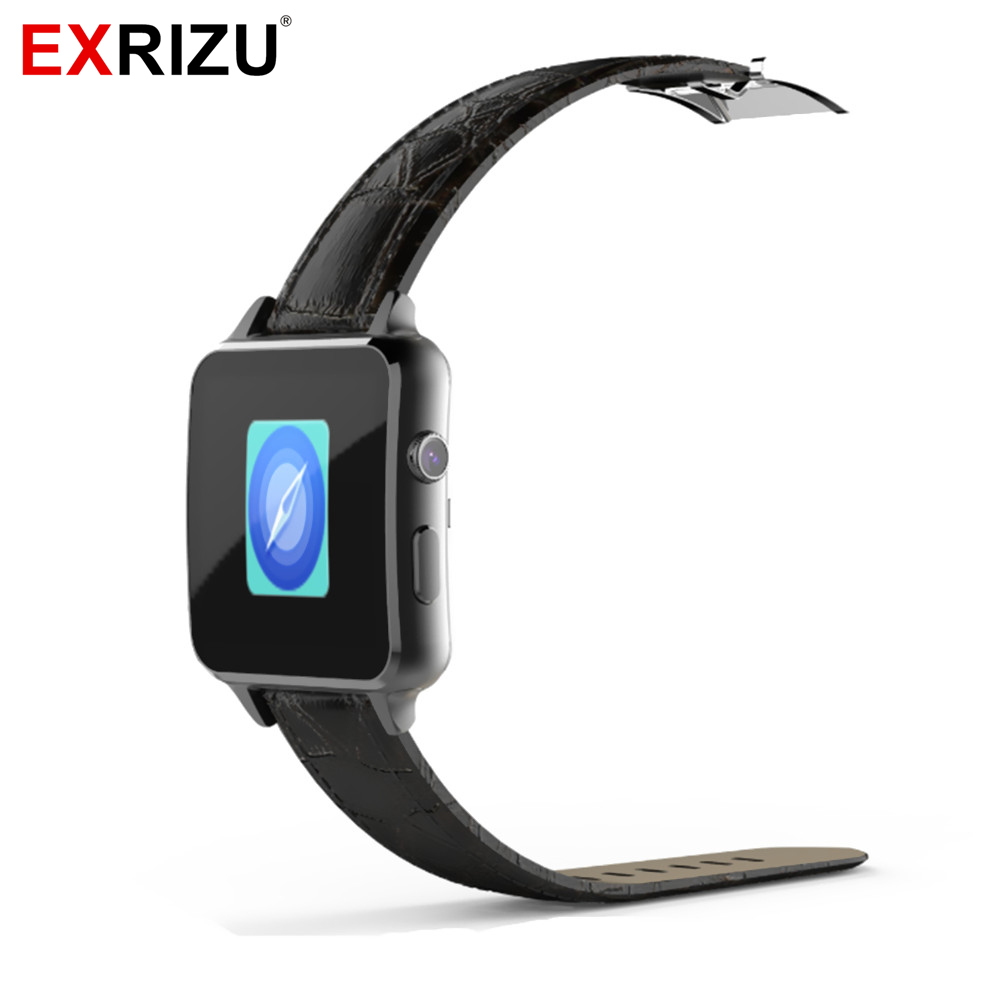 EXRIZU A8 SIM Card & Bluetooth Smart Watch Health Fitness Heart Rate Monitor MTK2502 Smartwatch Leather Android Clock Phone no 1 g7 smart watch phone mtk2502 2g sim card gsm bluetooth 4 0 heart rate monitor pedometer smartwatch for ios android phones