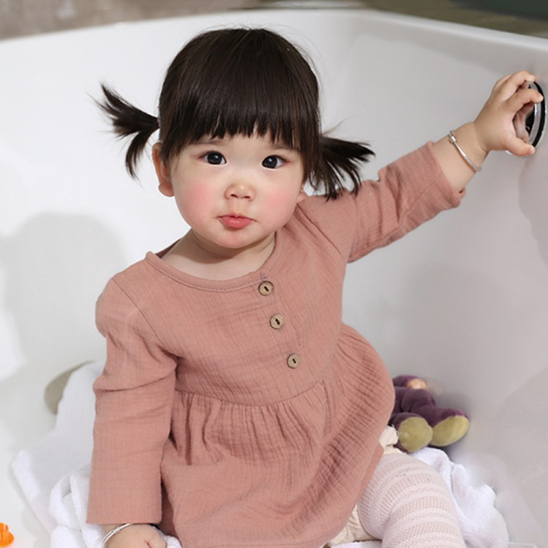 Baby Girls Clothing Spring/Autumn Girls Top   Shirts   Cute Long Sleeve Baby Girl   Shirts   Solid Kids Girl Clothes