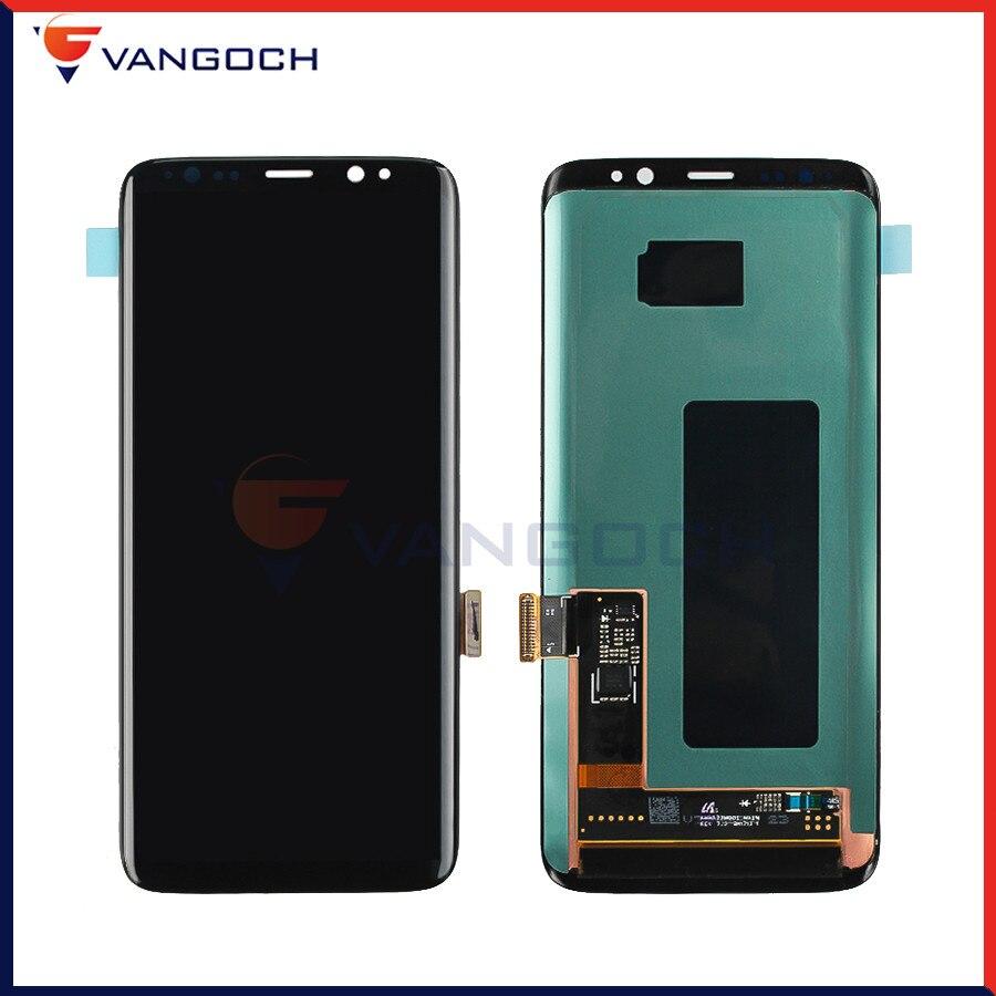 100% D'origine Super Amoled LCD Écran Pour Samsung Galaxy S8 LCD Affichage G950 L'assemblée Remplacement Écran Tactile Digitizer