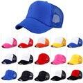Мода Cap Женщины Мужчины Hat Привлекательный Унисекс Случайный Шляпа Твердые Бейсболка, Дружище Сетки Пустой Козырек Шляпу Регулируемая