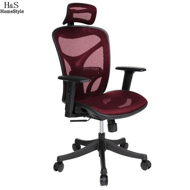 Homdox Offical Chair Adjustable High Mesh Executive Office Computer Desk  Ergonomic Chair Lift Swivel Chair N25A