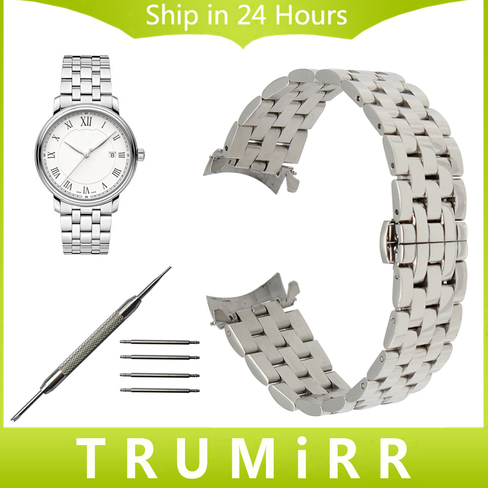 Stainless Steel Watchband Curved End Strap for Montblanc Men Women Watch Band Butterfly Clasp Wrist Bracelet 18mm 20mm 22mm 24mm curved end stainless steel watchband for rado men women watch band wrist strap butterfly clasp belt bracelet 18mm 20mm 22mm 24mm