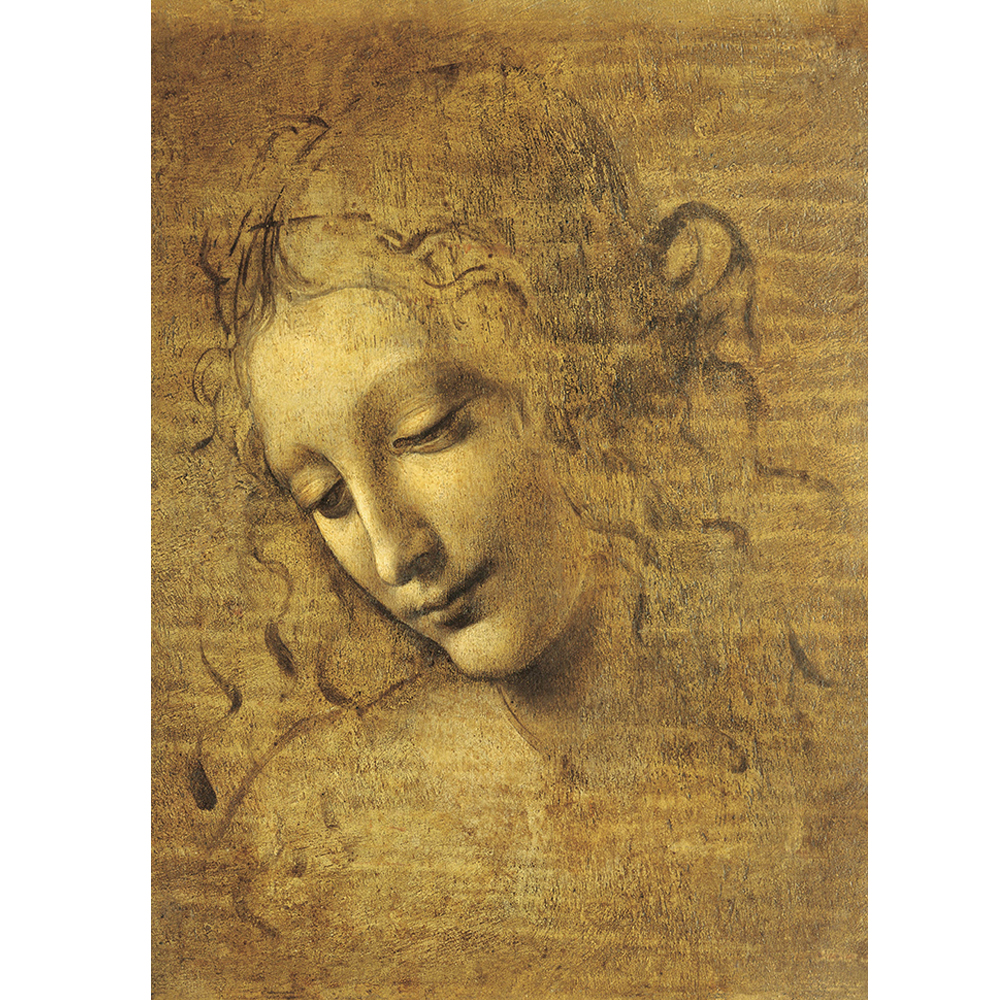 1500pcs Famous Painting Puzzle Toy Viso Di Giovane Fanciulla by Orlando leonardo Da Vinci 3D Wooden Paper 1500 cs Puzzle Gift in Puzzles from Toys Hobbies