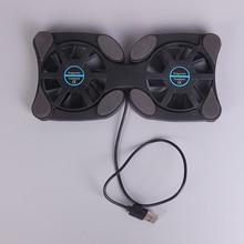 Горячий черный 2 вентилятор USB порт мини Ocus ноутбук охлаждающая подставка кулер охлаждающая подставка складной Вентилятор Охлаждающая подставка