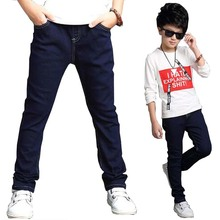 Kids outwear boys Jeans big boys kids trousers jeans denim casual pants children boys outwear for 7-15 years big boys trousers(China)