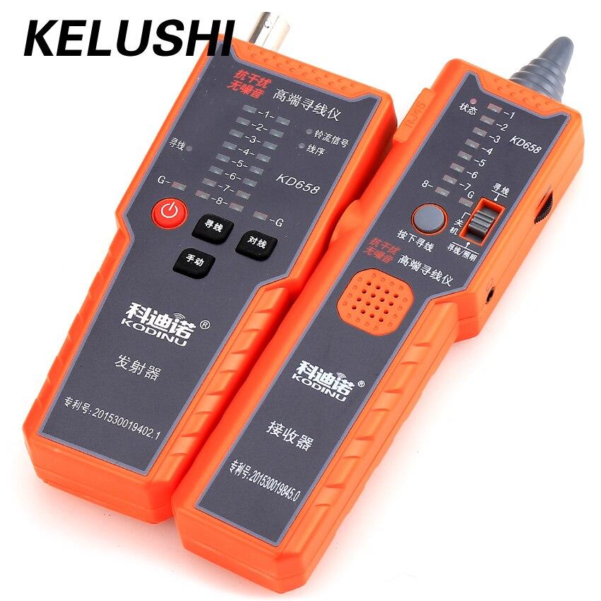 KELUSHI KD658 Anti-interférence pas de bruit testeur de câble Fiber réseau téléphone câble Tracker fil Toner traceur testeur avec sac