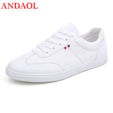 ANDAOL Brand Men's Casual Shoes Top Quality Fashion Luxury Lace-Up Flats Campus Shoes Luxury Leather Solid Shoes Men Sneakers new 2016 high quality men genuine leather casual lace up shoes fashion flats luxury brand low top men shoes red white black