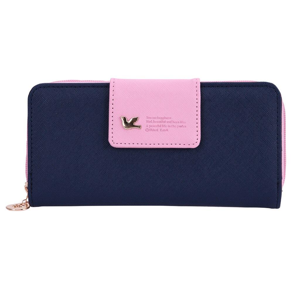 Mode Geldbörsen Damen Lange Reißverschluss Leder Geldbörse Geldbörsen carteira kreditkarteninhaber Geldbörse Damen porte