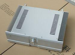 High-grade BZ4312A2 silver full Aluminum amplifier chassis BOX amp DIY case
