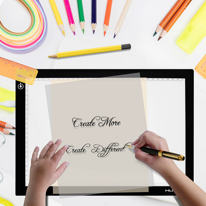 Huion New <font><b>A2</b></font> LED Tracing Boards Ultra Thin <font><b>Light</b></font> Pads Professional Animation Tracing <font><b>Light</b></font> <font><b>Boxes</b></font> LED <font><b>Light</b></font> Pad Panels image