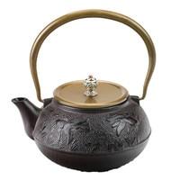 1.2L Southern Japanese Cast Iron Tea Pot Goldfish Kettle Kung Fu Drinkware