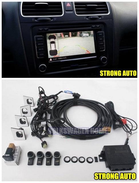 Front 4K OPS Park Pilot 4 Parking Sensors Kit For VOLKSWAGEN GOLF