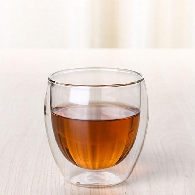 Clear Double Wall Gl Coffee Tea Cups Glware