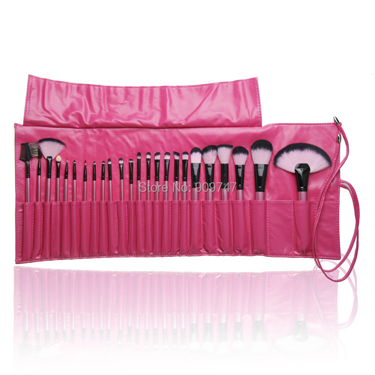 NEW 2014 professional 24 pcs makeup brush set kits cosmetic facial brush kits make up tools with ROSE case msnsuites palazzo dei ciompi 4 флоренция