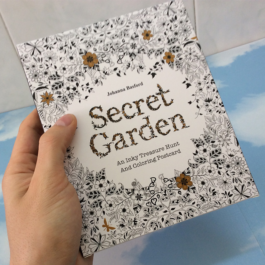 English Edition Secret Garden 30 Sheets Cards Coloring Books For Adults With Envelope Tintage Postcards DIY Colouring Books