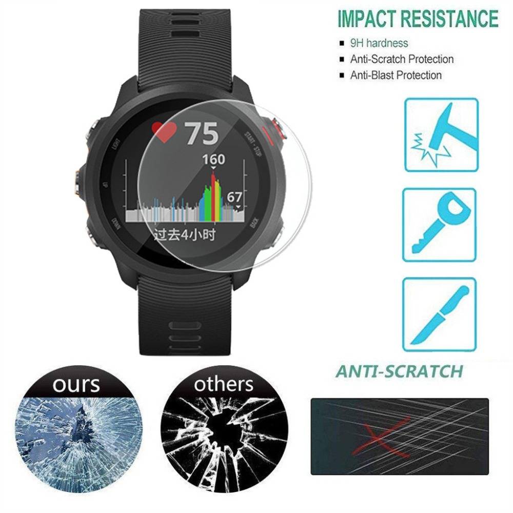 1/3 PCS Ultra Clear Film Tempered Glass Screen Protector For Garmin Forerunner 245 Watch Anti-scratch Protection Accessories