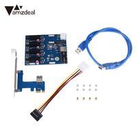 PCIe 1 4 PCI Expansion Card Riser Slots Adapter Port Kit Mini Components Blue