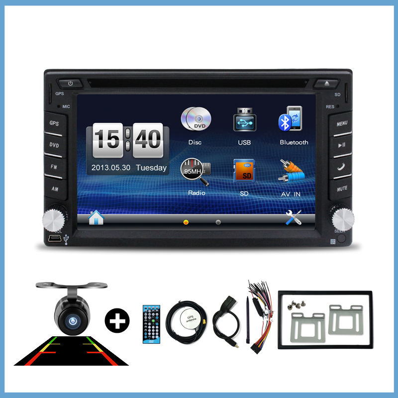 Car DVD player GPS Bluetooth PC camera 2 DIN universal for X-TRAIL Qashqai x trail juke for nissan Stereo Radio headunit USB/SD