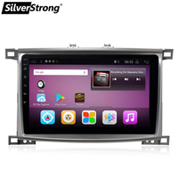 SilverStrong Android7.1 10.1inch LC100 Car DVD Navigation For Toyota Land Cruiser100 LX470 GPS Glonass land cruiser 4500,4700