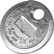 1pcs Spark Plug Gap VINTAGE Gauge เครื่องมือวัดเหรียญประเภท 0.6 2.4 มม.ความแม่นยำ Western Auto Sparkplug วัด Mechanic