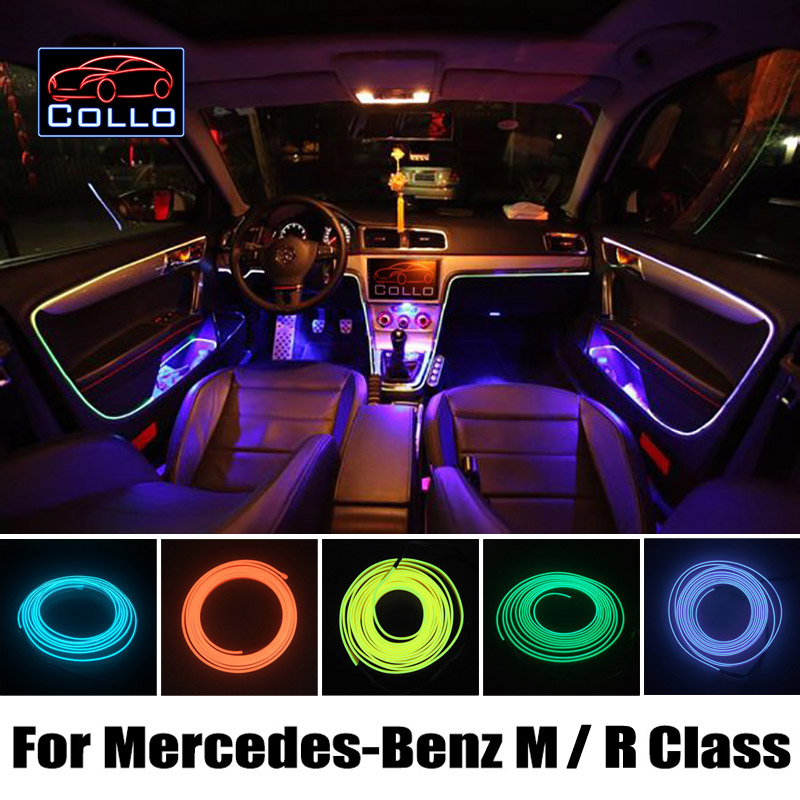 9 Meter EL Wire For Mercedes For Benz M Class W164 W166 / R Class W251/ Car Romantic Atmosphere Lamp / Flexible Neon Cold Light auto fuel filter 163 477 0201 163 477 0701 for mercedes benz