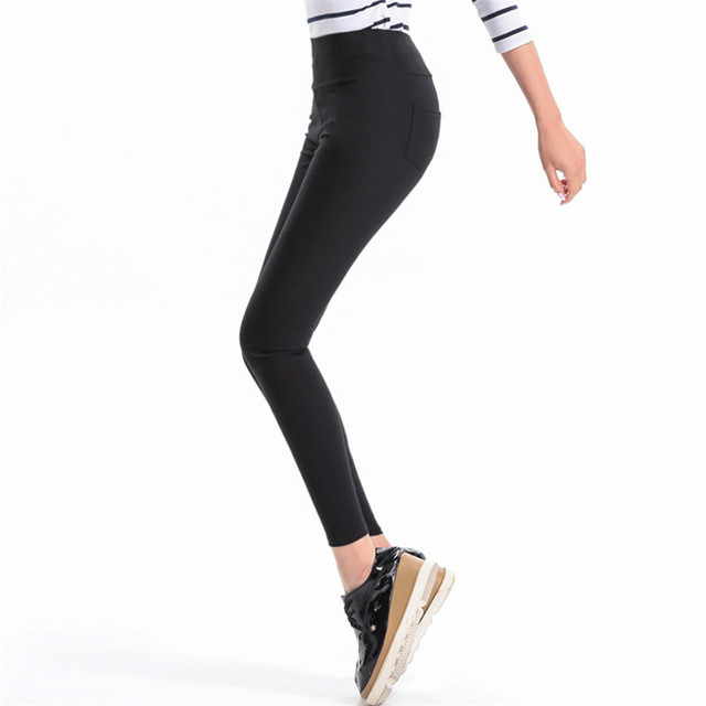 Women Black Legging Summer Female Pencil Leggings High Waist Thin Ladies Elastic Leggins Plus Size 2016 White Pantalones K132