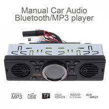 Vehicle Electronics In-dash Car MP3 Player Car Stereo Audio Radio Player FM AV252B 12V Bluetooth 2.1 + EDR with USB TF Card Port 12v car radio vehicle electronics in dash mp3 audio player hifi car stereo with 4 loudspeakers fm stations mp3 wma usb sd port