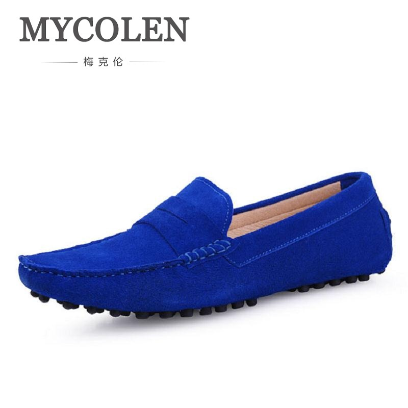MYCOLEN Brand Fashion Soft Men Leather Shoes Genuine Leather Breathable Men's Flats Shoes Slip-On Men Loafers Zapatos-Hombre new summer breathable men genuine leather casual shoes slip on fashion handmade shoes man soft comfortable flats lb b0009