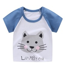 Cotton Infant T-shirt Casual Tee Tops Boy Shirt Summer Baby Boys T Shirt Cartoon Print Short Sleeve Kids Girls T-shirts kids fashion summer baby milo t shirt children cotton tee shirts cute cartoon summer sotton short sleeve t shirt for boys girls